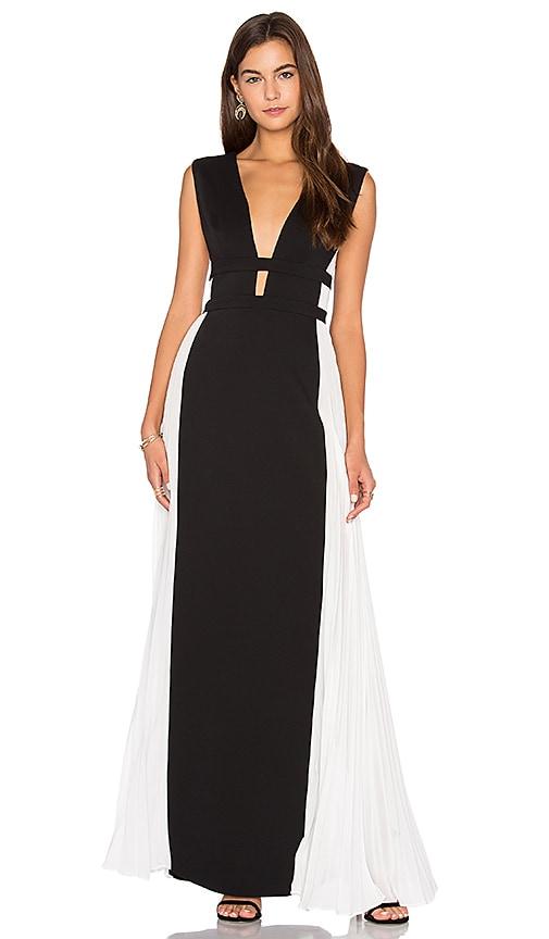 edbce03e7d BCBGMAXAZRIA Colorblock Gown in Black Off White Combo