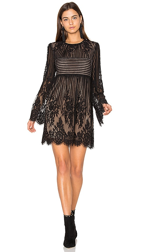 BCBGMAXAZRIA Mini Shift Dress in Black