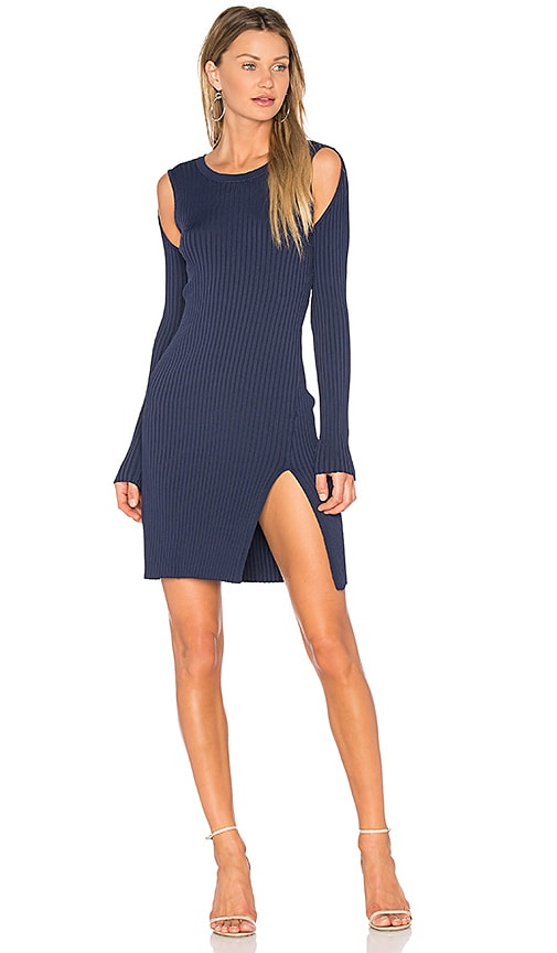 BCBGMAXAZRIA Braiden Sweater Dress in Blue