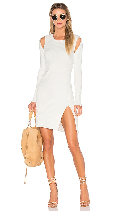 BCBGMAXAZRIA Braiden Sweater Dress in White