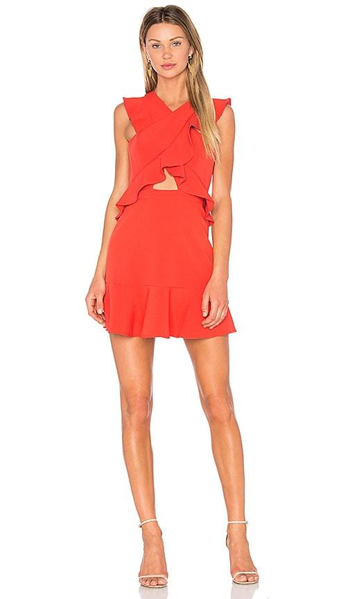 BCBGMAXAZRIA Careen Dress in Bright Poppy in Red