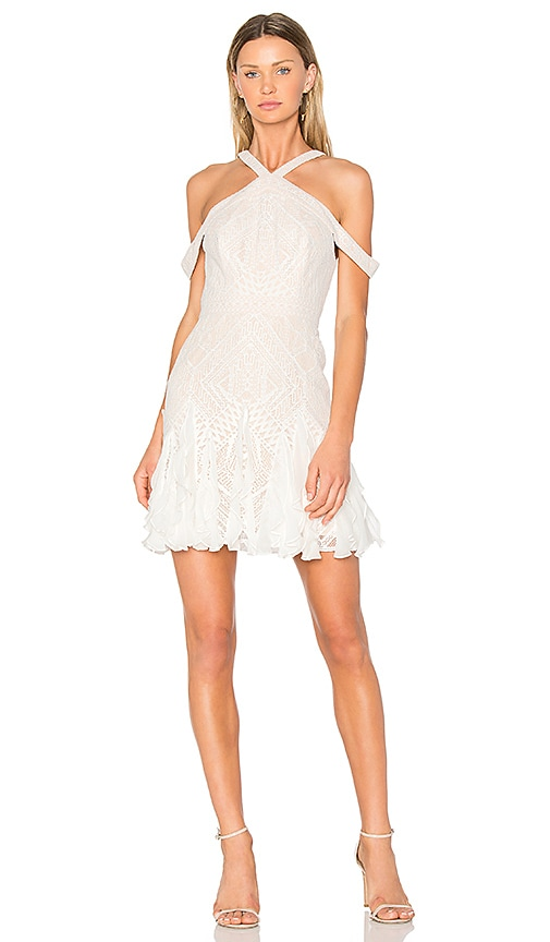BCBGMAXAZRIA Leighann Dress in White