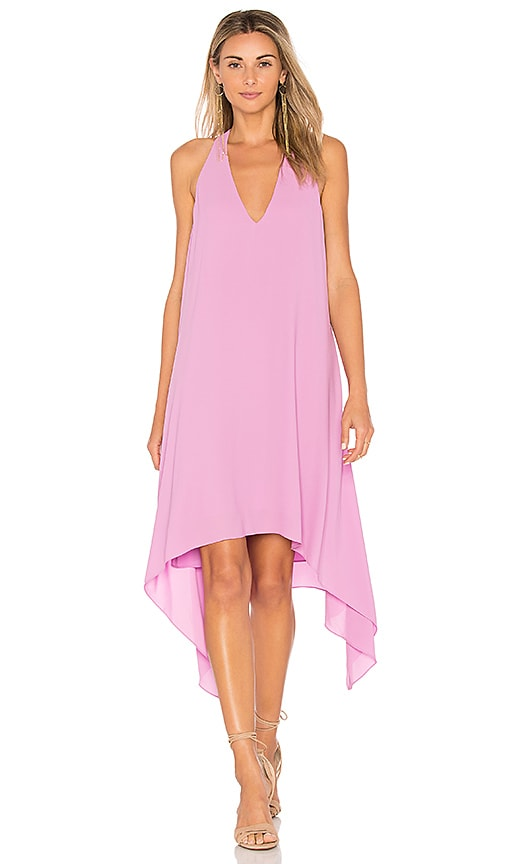 BCBGMAXAZRIA Drape Back Dress in Mauve