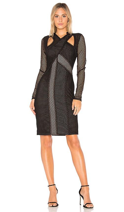 BCBGMAXAZRIA Jaylynn Mesh Dress in Black