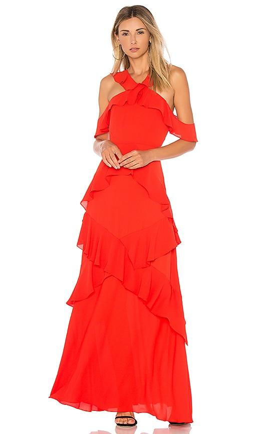BCBGMAXAZRIA Audrianna Gown in Bright | REVOLVE