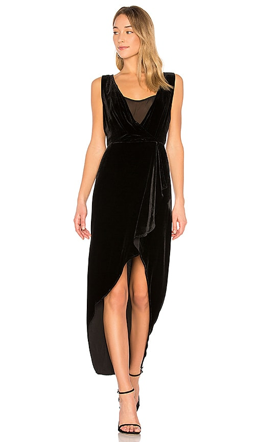 BCBGMAXAZRIA Ria Asymmetrical Wrap Dress In Black