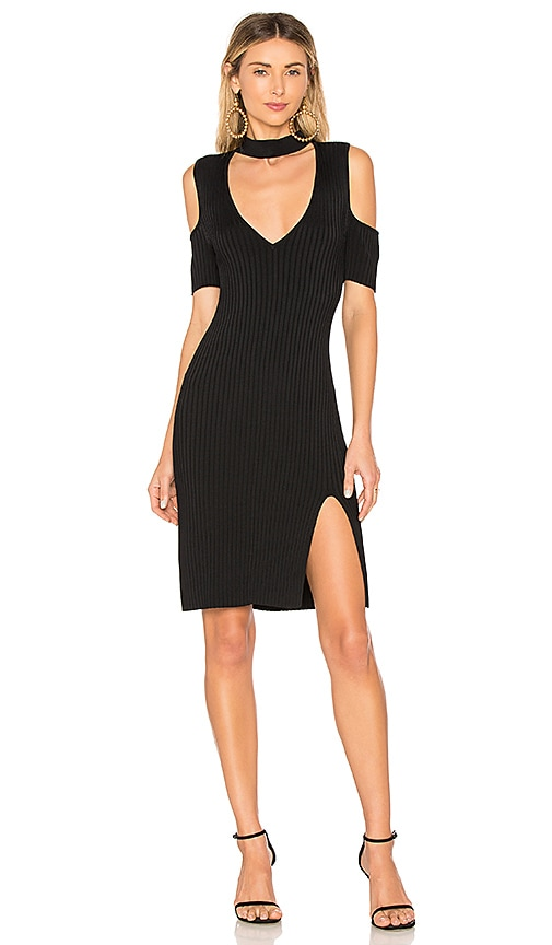 BCBGMAXAZRIA Zoelle Cut Out Dress In Black