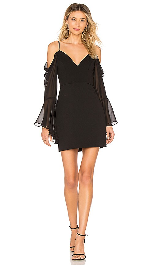 BCBGMAXAZRIA Pamella Cold Shoulder Dress In Black