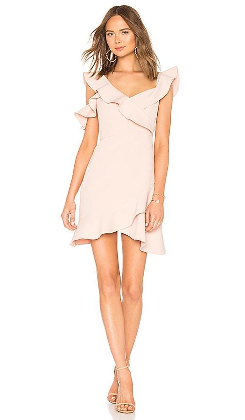 BCBGMAXAZRIA Malik Asymmetrical Dress in Blush