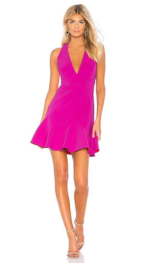 BCBGMAXAZRIA Dolle Mini Dress in Purple