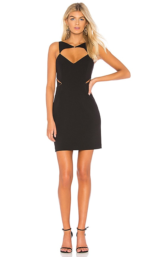 BCBGMAXAZRIA Elshane Cut Out Dress in Black