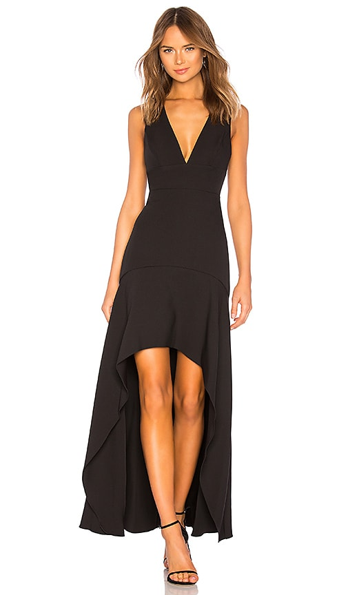Plunging Hi Low Gown