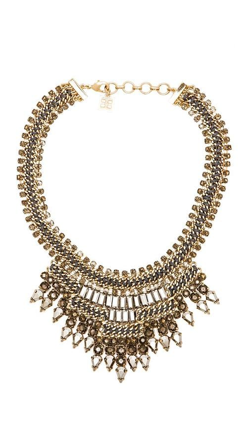 Baguette Stone Statement Necklace