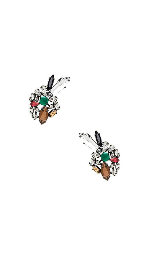 Multi Color Floral Earring