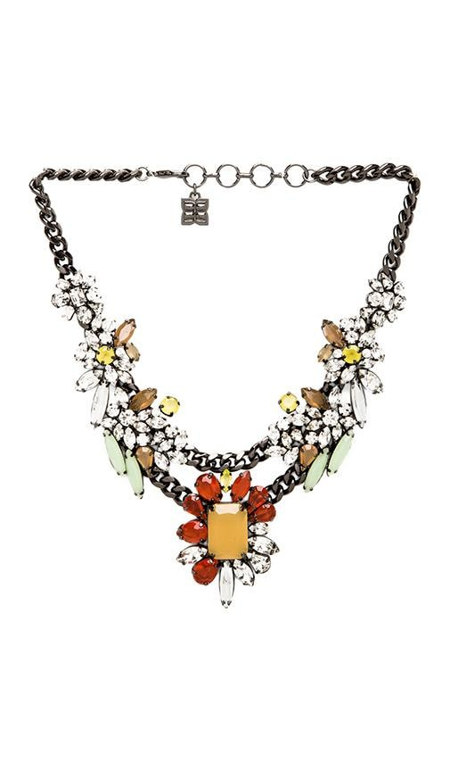 Multi Color Floral Stone Necklace