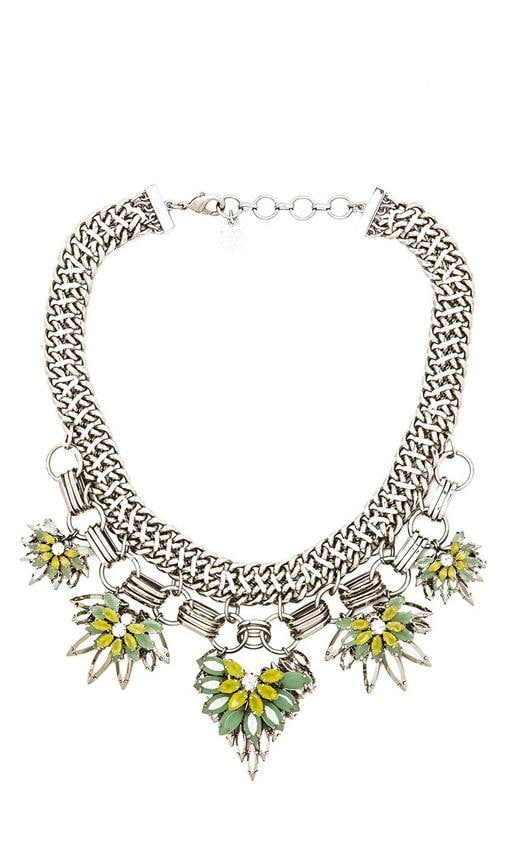 Floral Stone Chain Necklace