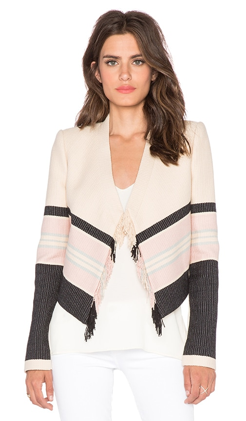 BCBGMAXAZRIA Walker Jacket in Almond Blossom Combo