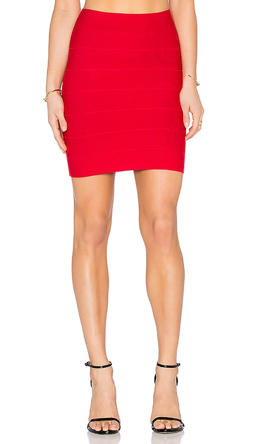 BCBGMAXAZRIA Simone Skirt in Red Berry