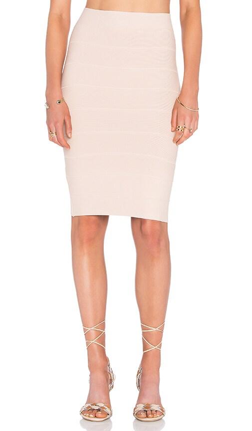 BCBGMAXAZRIA Alexa Mini Skirt in Bare Pink