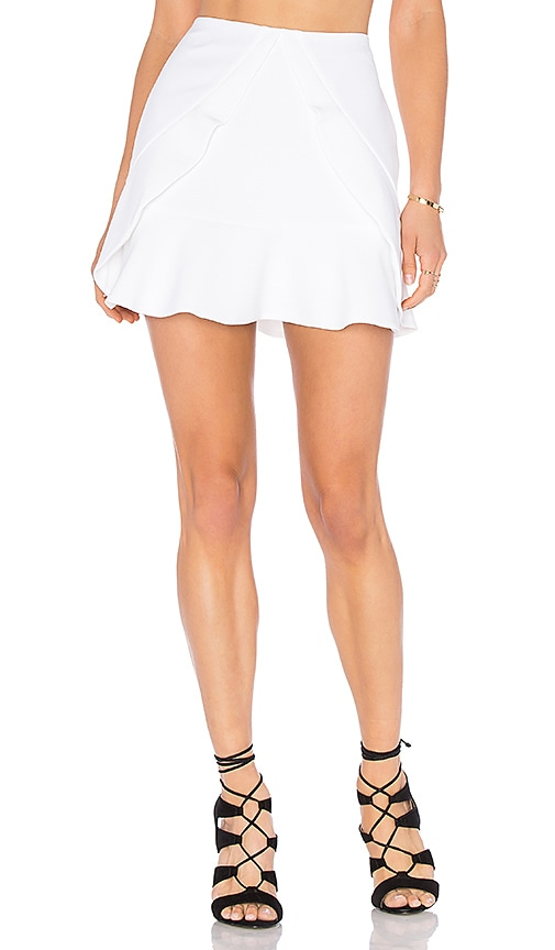 BCBGMAXAZRIA Lindsey Layered Skirt in White
