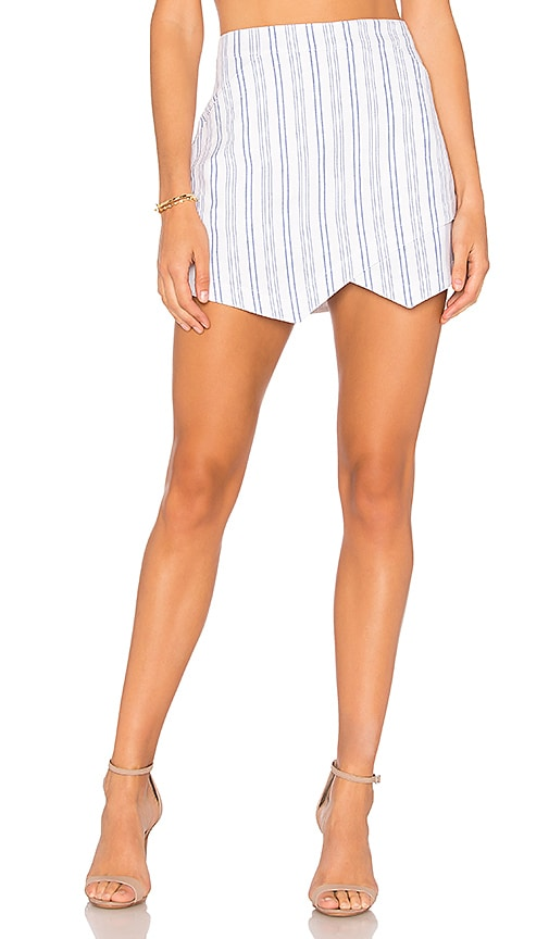 BCBGMAXAZRIA A Line Mini Skirt in White