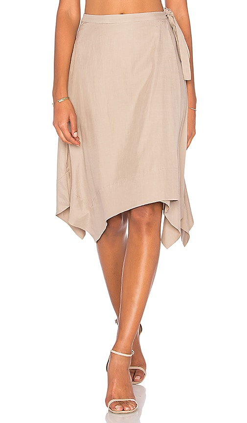 BCBGMAXAZRIA Handkerchief Skirt in Beige
