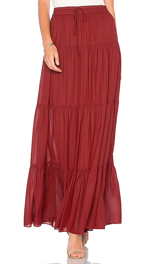 BCBGMAXAZRIA Camila Skirt in Burgundy