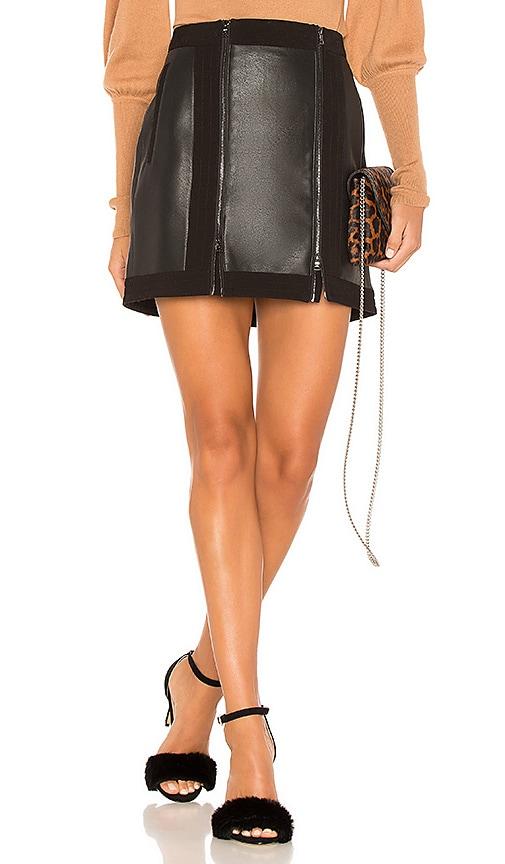 BCBGMAXAZRIA Roxy Zip Skirt in Black