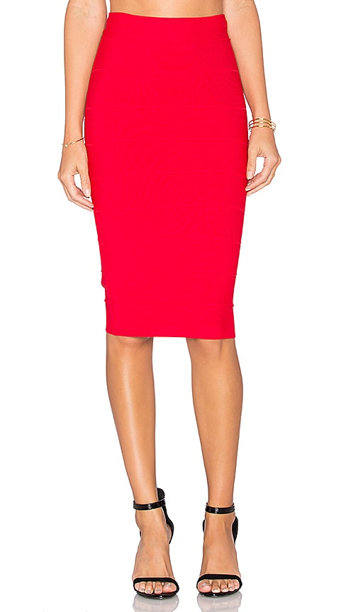 BCBGMAXAZRIA Leger Skirt in Red Berry
