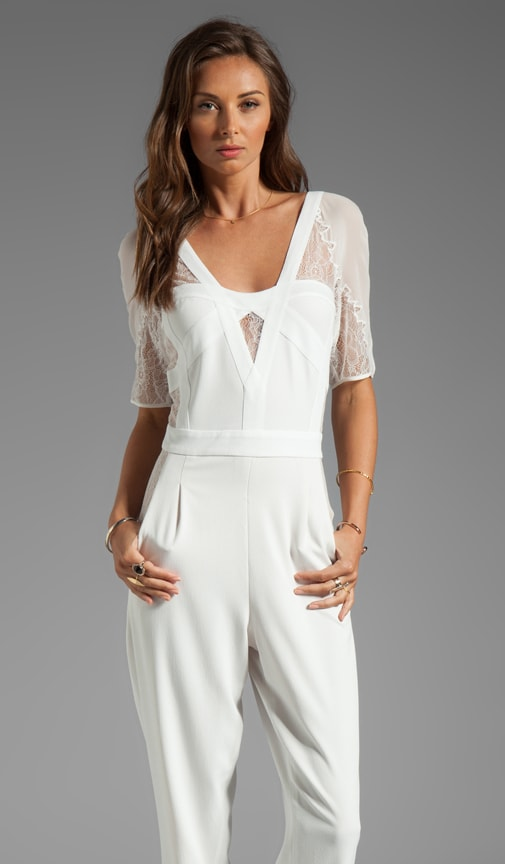 Runway Lace Sleeve Jumpsuit