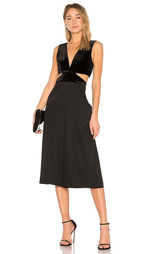 16af8273f43b BCBGMAXAZRIA Olya Jumpsuit With Cutouts In Black in Black