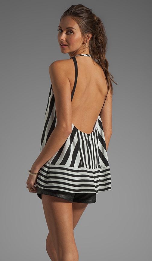 Striped Hi-Low Top