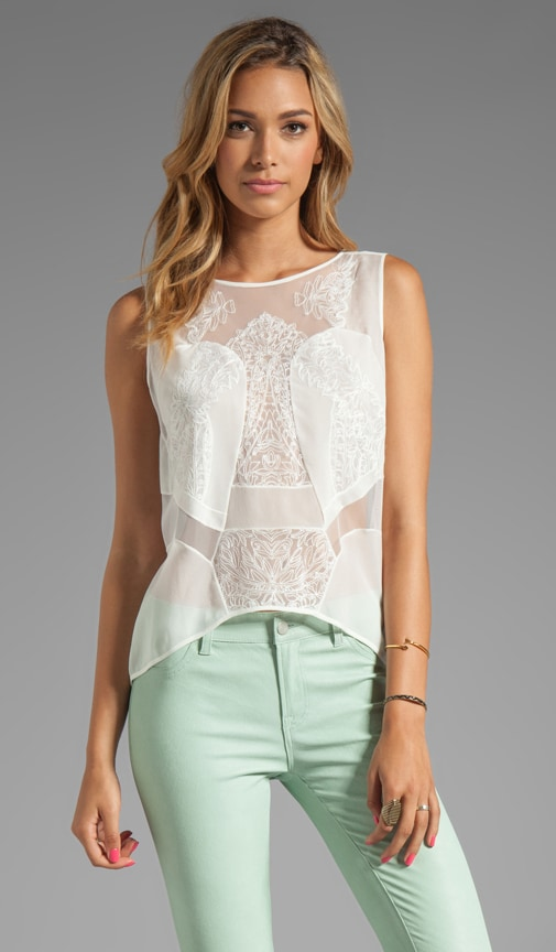 Lace Combo Top