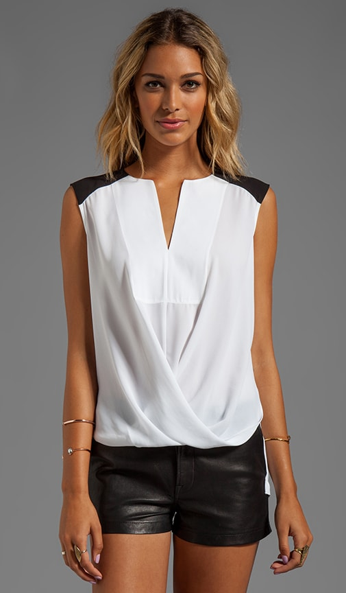 Split Front Color Block Top