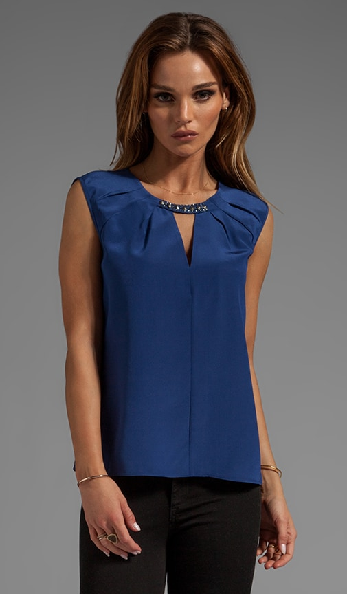 Sleeveless Cutout Top