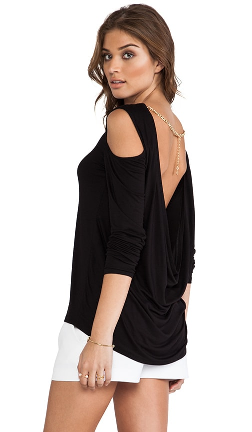 BCBGMAXAZRIA Jinelle Top in Black