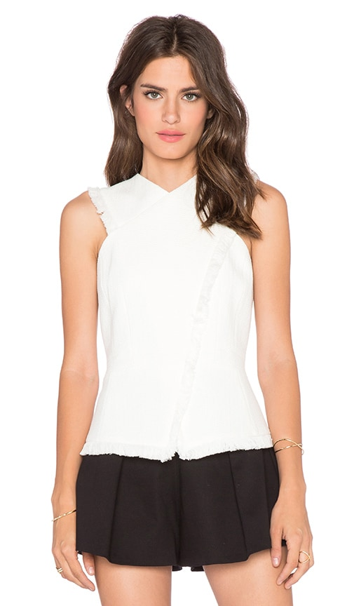 BCBGMAXAZRIA Munson Top in Off White