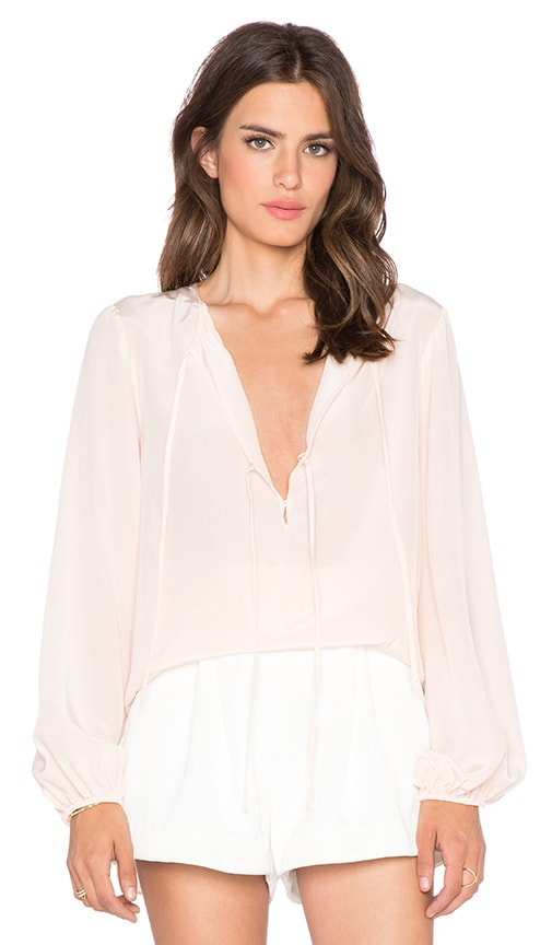 BCBGMAXAZRIA Evanna Top in Blush