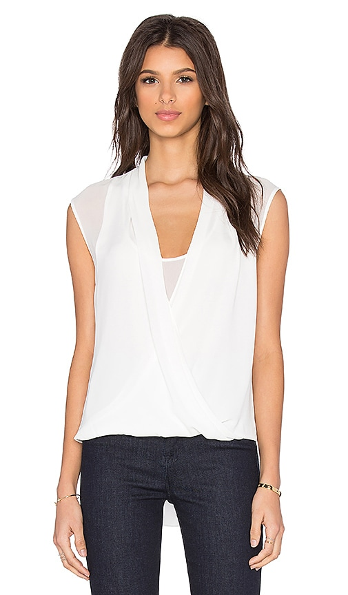 BCBGMAXAZRIA Remy Top in White