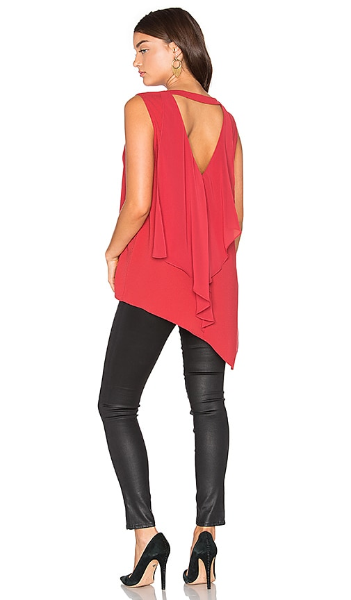 BCBGMAXAZRIA Tayloir Tank in Red
