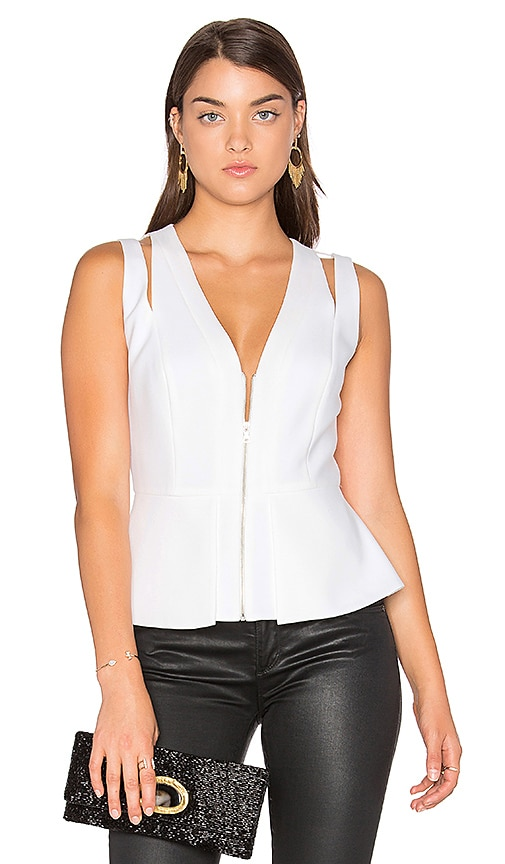 BCBGMAXAZRIA Catrina Top in White