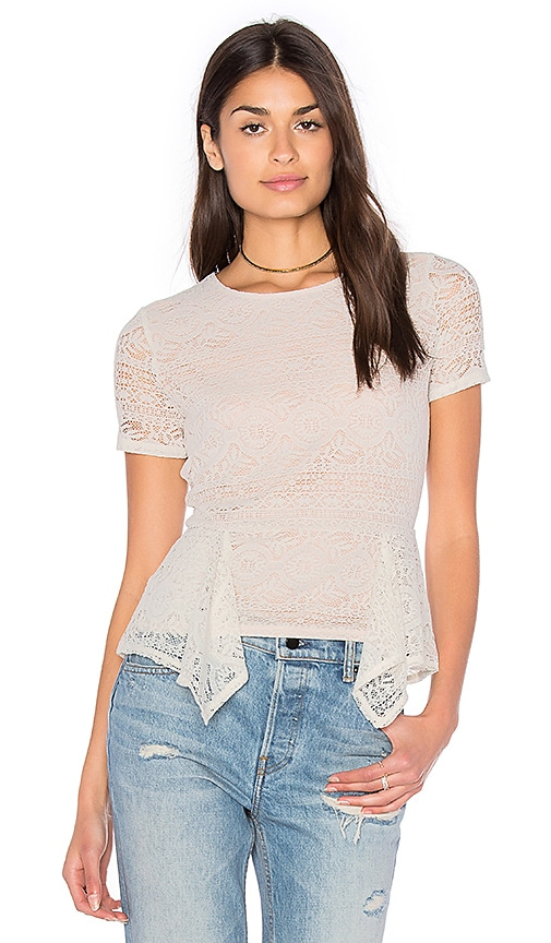 BCBGMAXAZRIA Karine Top in Ivory