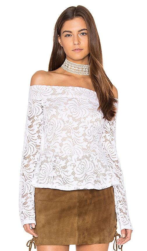 BCBGMAXAZRIA Alea Top in White
