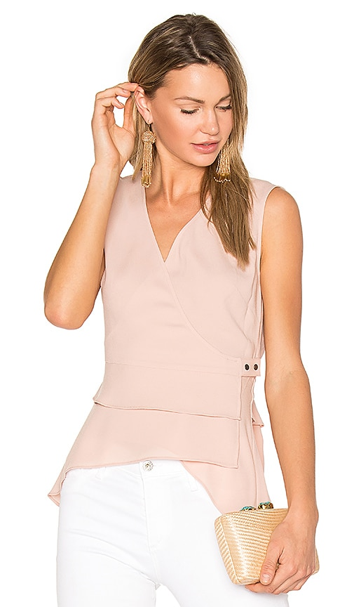 BCBGMAXAZRIA Eleni Wrap Top in Pink