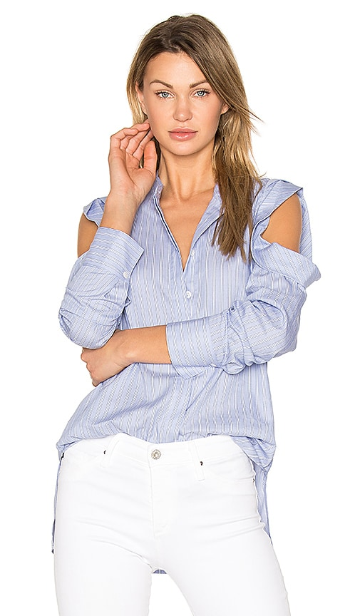 BCBGMAXAZRIA Nishani Blouse in Blue