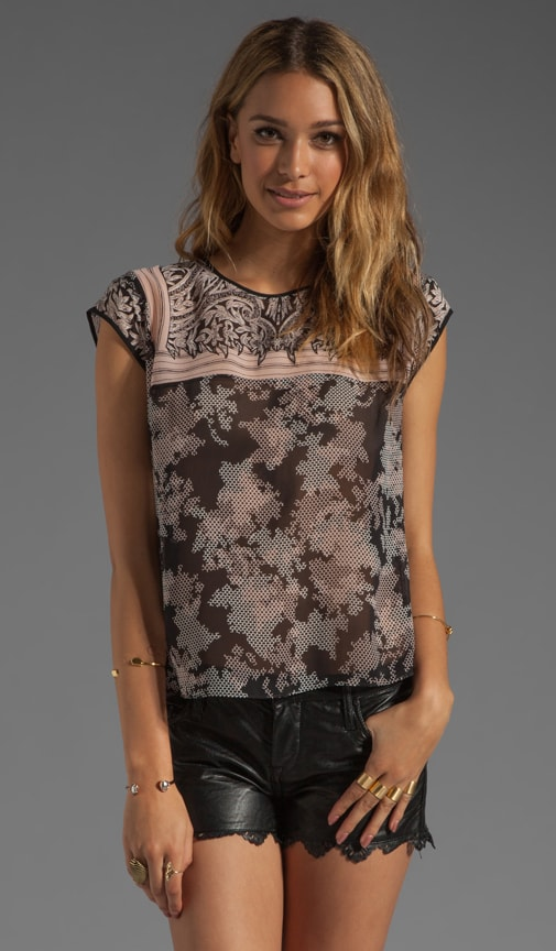 Runway Mixed Print Top