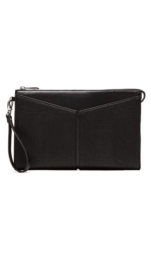 Angeled Slip Pocket Wristlet Clutch
