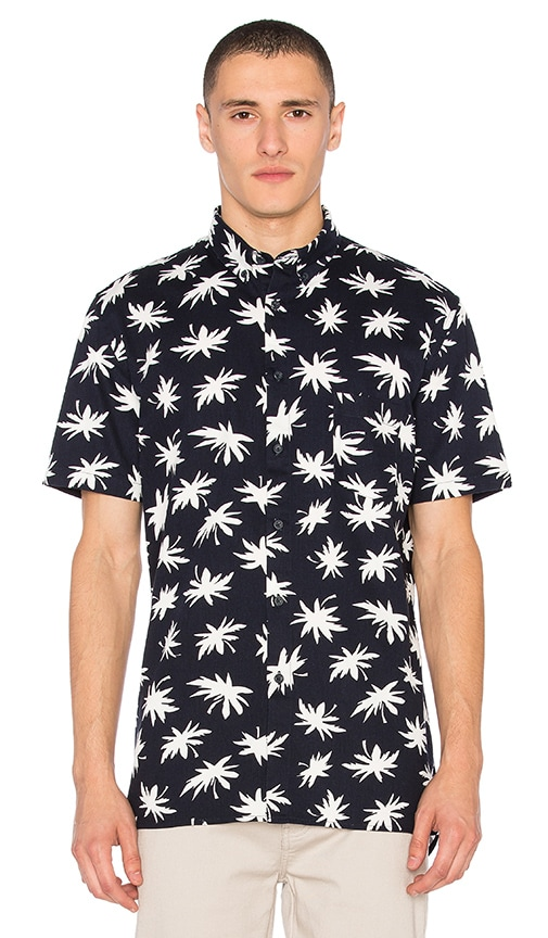 Barney Cools Palm Shirt in Navy