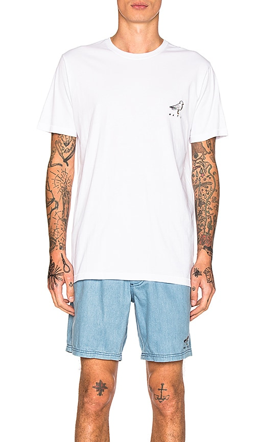 Barney Cools Seagull Mate Tee in White