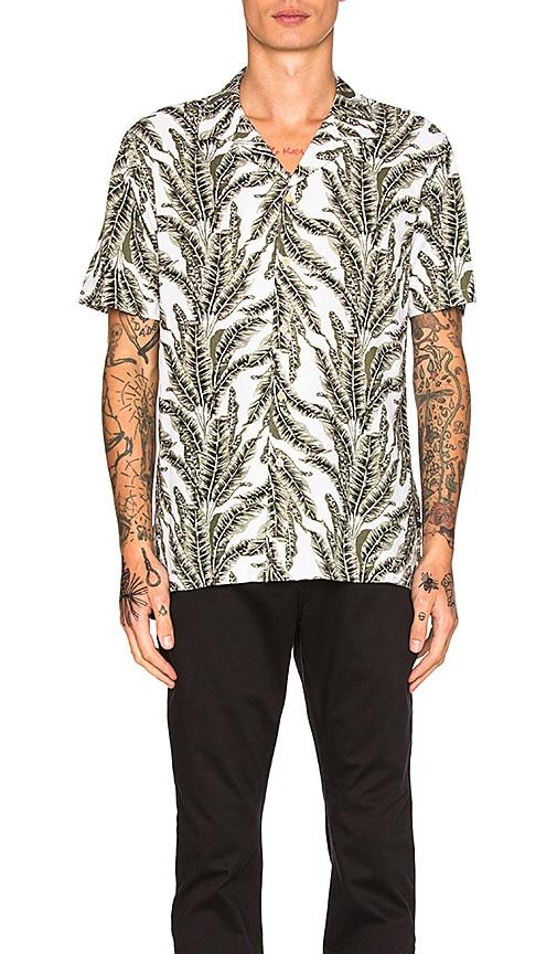 Barney Cools Camp Collar Shirt in Green